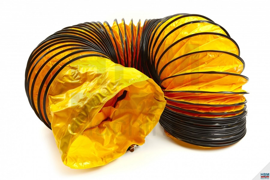 HBM Flexibele Slang geel, Ø 305 mm x 7,6 meter ook passend op MASTER