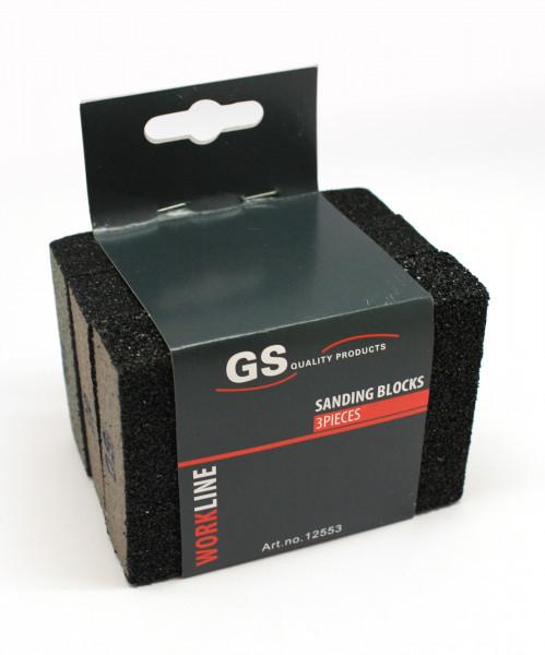 GS Quality Products Schuurblokjes 3 stuks #60/#80/#100