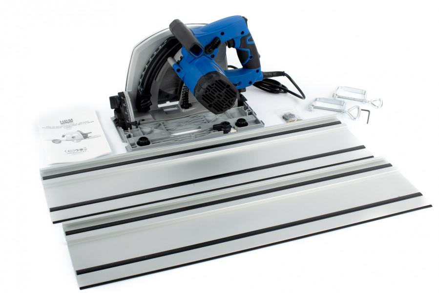 HBM 190 mm Professionele 1400 Watt Invalzaag, Liniaalzaag met 2 x 700 mm Liniaal