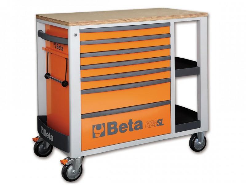 Beta Verrijdbare Werkbank Oranje - C24Sl/O - 024002101