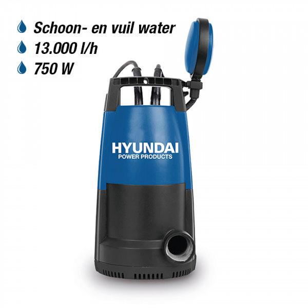 Hyundai 750W Dompelpomp 13.000 L/H