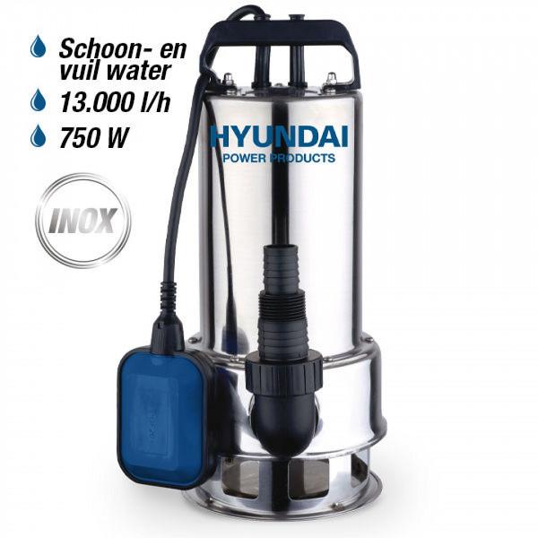Hyundai 750W RVS Dompelpomp 11.000 L/H