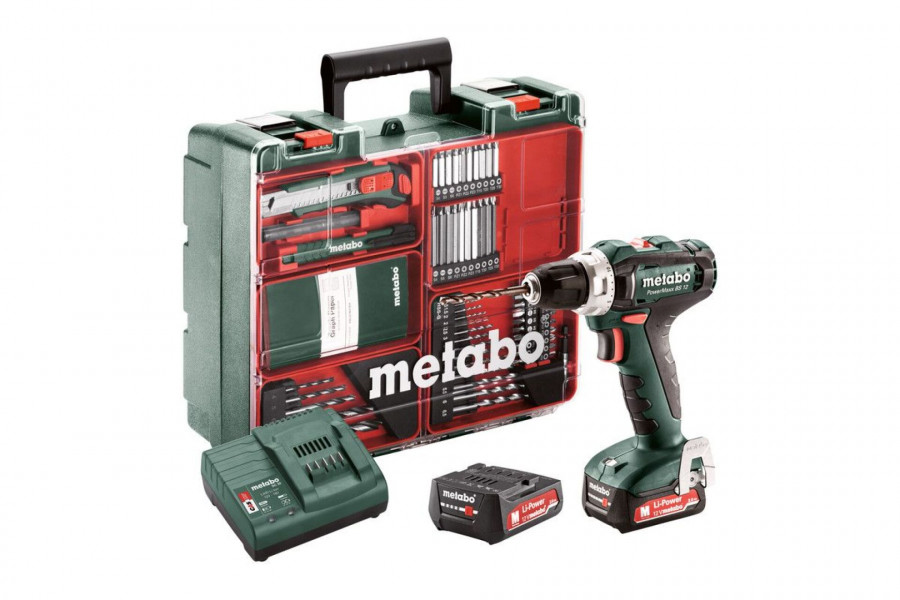 Metabo PowerMaxx BS12 Set Accuschroefboormachine - 601036870
