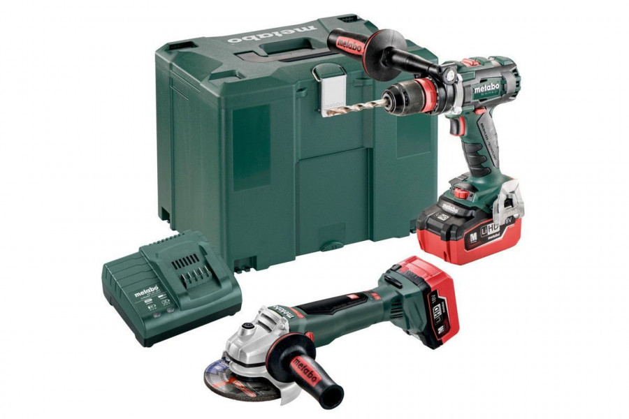 Metabo Combo Set 18V BSLTXQI Accu-Boorschroefmachine + WBLTX125Quick Accu-Haakse Slijper 685094000