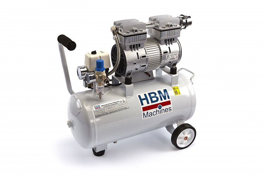 HBM 30 Liter Professionele Low Noise Compressor
