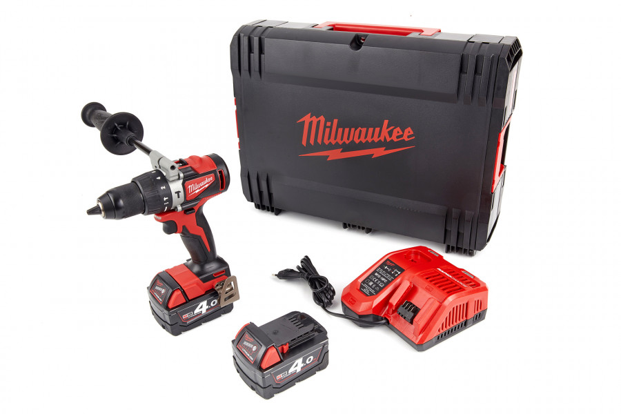 Milwaukee M18 BLPD2-402X 18V Li-Ion accu Klopboor-/schroefmachine set (2x 4,0Ah accu) in HD box - koolborstelloos - 82Nm - 4933464560
