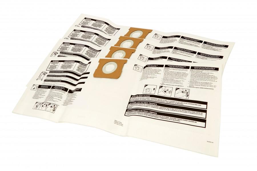Michelin Set van 5 Stofzakken voor de Michelin 20 Liter Nat en Droog Stofzuiger