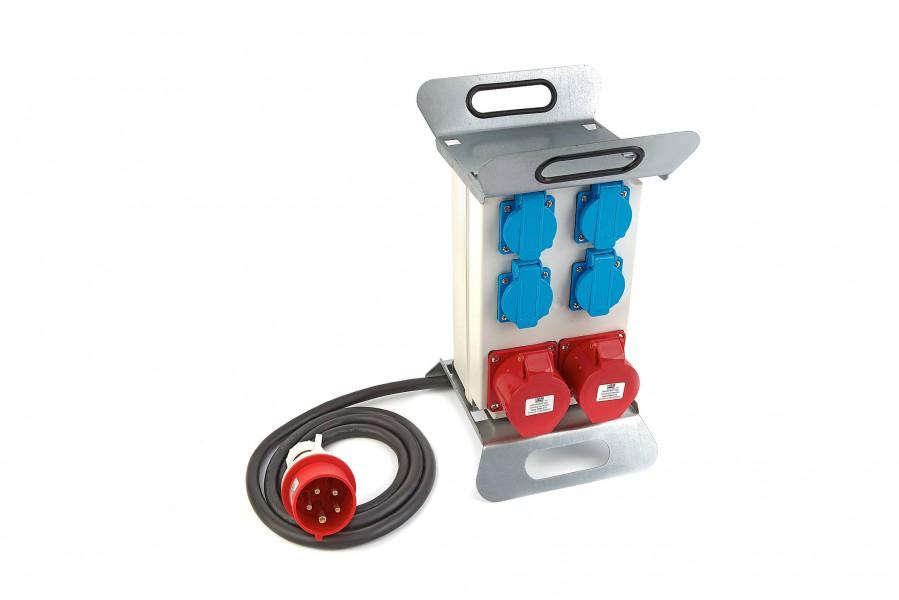 HBM 2 x 400 Volt en 4 x 230 Volt verdeelblok