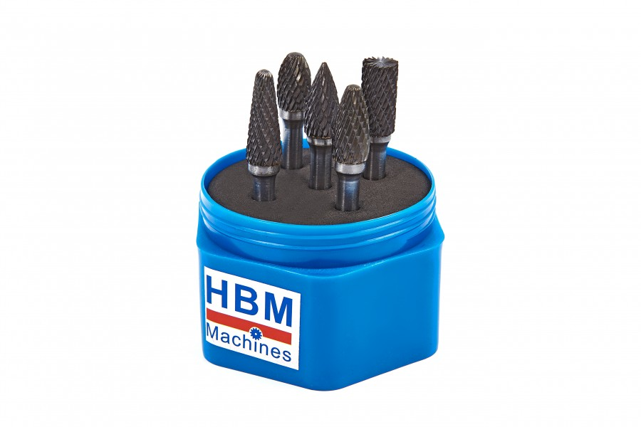 HBM 5 Delige Volhardmetalen Frezenset