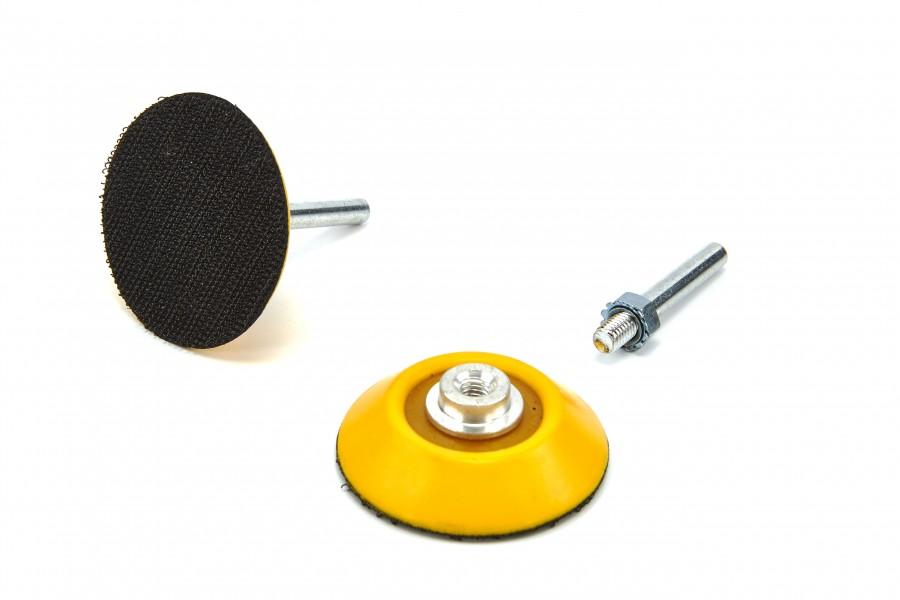 HBM Velcro Schuurschijfhouder met 6 mm. As