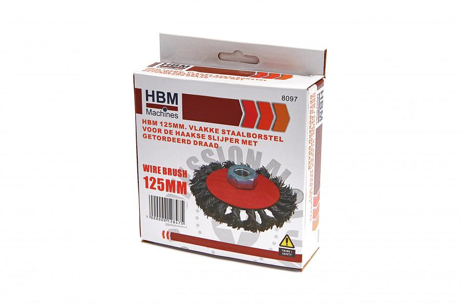 HBM Staalborstel met gedraaide draad voor de Haakse Slijper