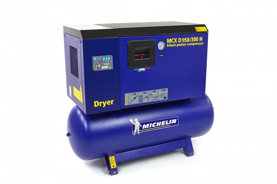Michelin 5,5 PK 270 Liter Gedempte Compressor MCXD 598/300 N MET DROGER