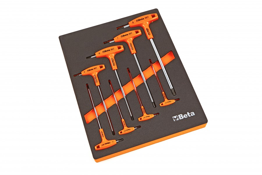 Beta M50 - 8 Delige Inbus T-Greep Inlay Foam