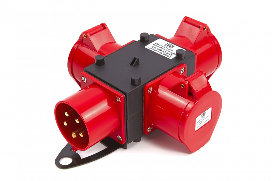 HBM 400 Volt 3 Voudig Verdeelblok 16 Ampère