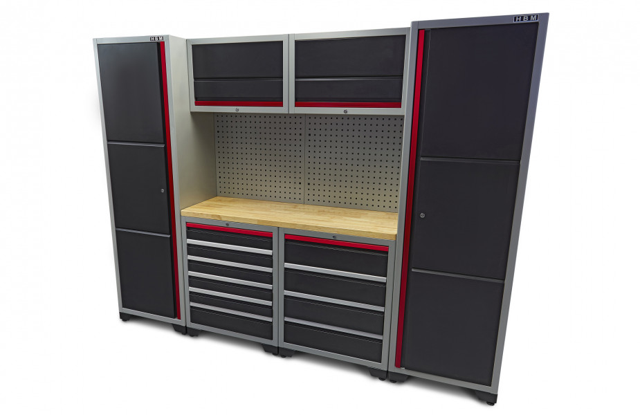 HBM 9 Delig Deluxe Professioneel Modulair Werkplaats Systeem