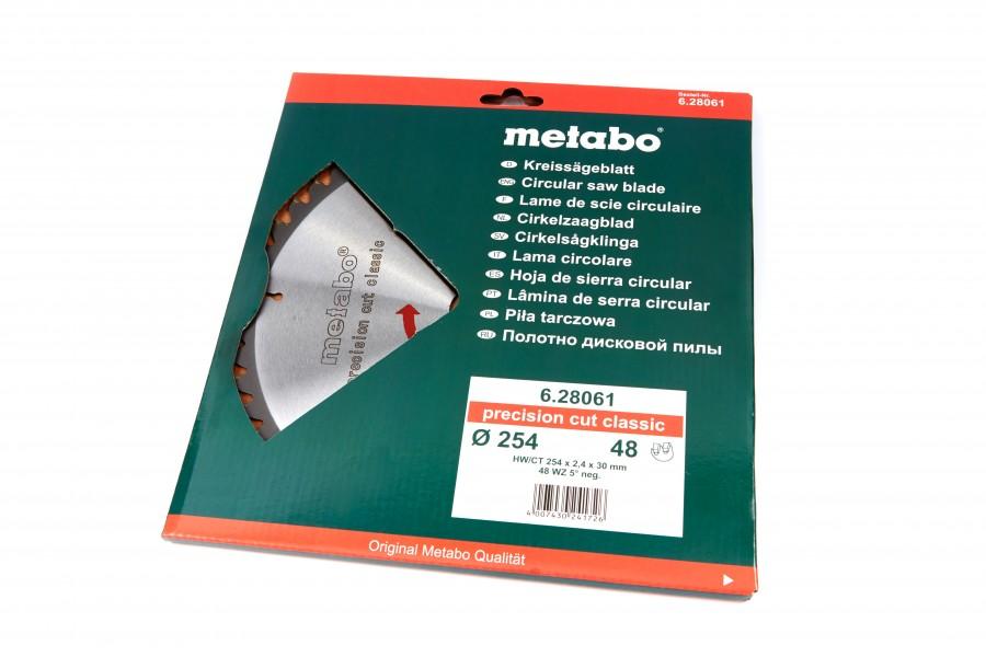 Metabo 254 x 2,4 x 30 mm Zaagblad voor Hout