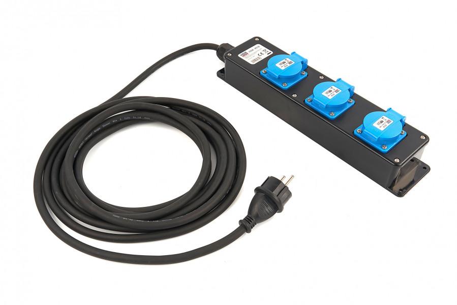 HBM Professionele IP44 Stekkerdoos Met 5 Meter Kabel 3 x 1,5 mm