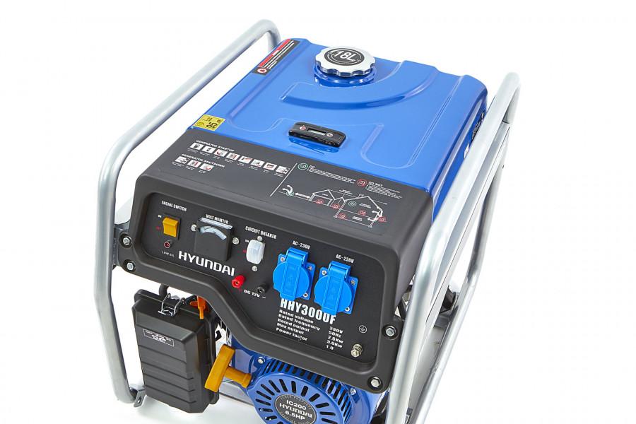 Hyundai HHY3000F Generator, Aggregaat 2,6Kw, 200cc OHV-Benzinemotor