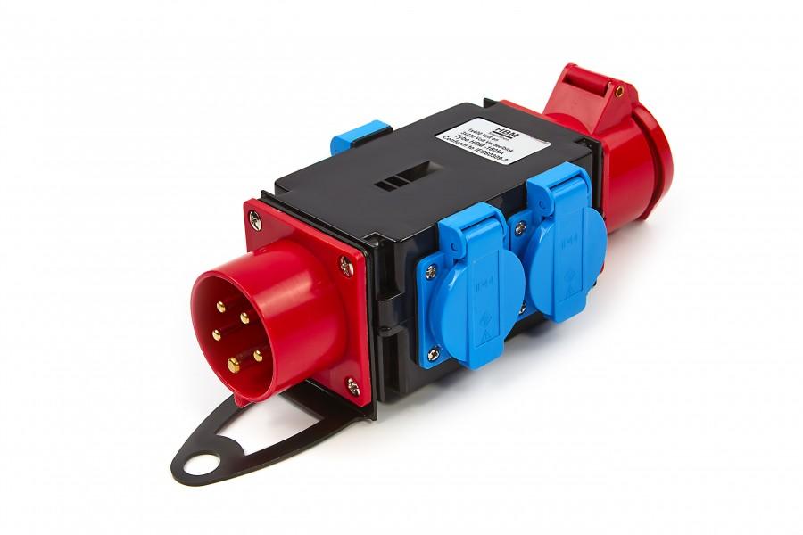 HBM 1 x 400 Volt en 3 x 230 Volt Verdeelblok