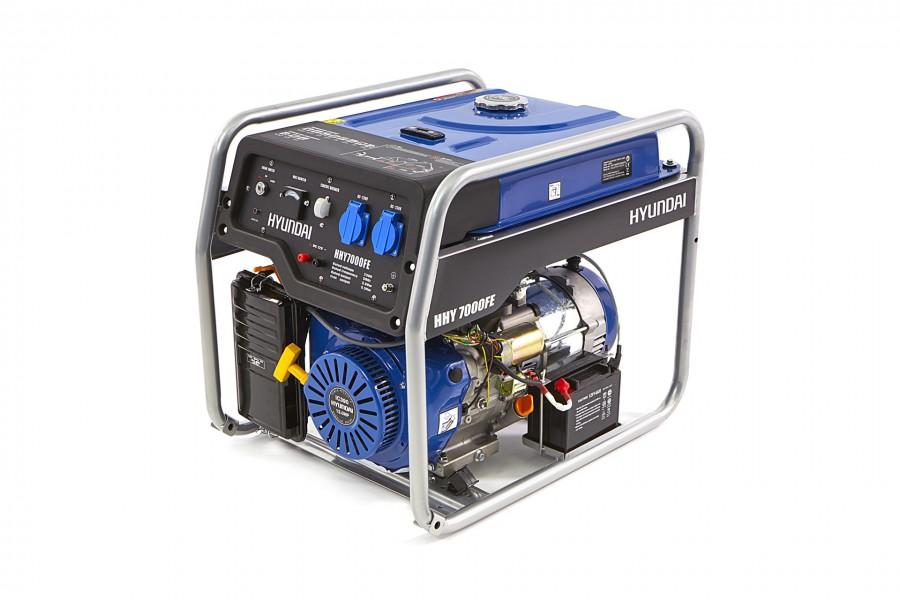 Hyundai HHY7000FH Generator, Aggregaat 5,5Kw, 389cc OHV-Benzinemotor