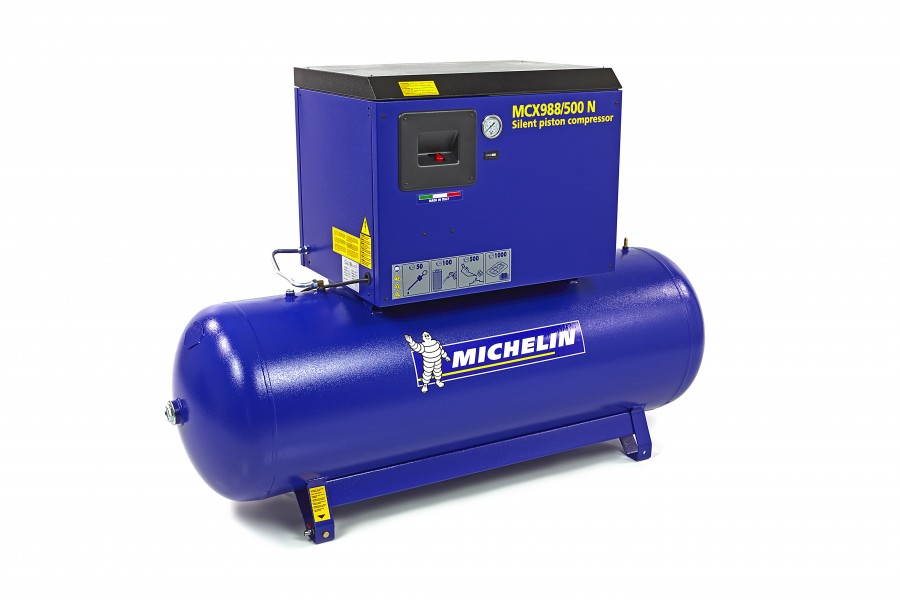 Michelin 10 PK 500 Liter Geluidgedempte Compressor MCX 988/500 N