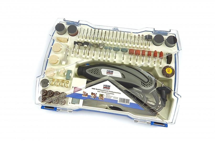 HBM Multifunctionele Hobbymachine met 190 Accessoires en Flexibele as