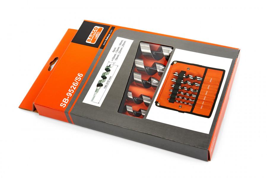 Bahco SB-9526/S6 6 Delige Slangenborenset in Etui - 10-25 mm