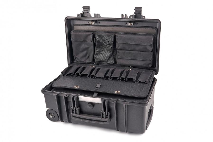 Apox GT-LINE GT 51-22 PTS Professionele Waterdichte Gereedschapskoffer met Wielen en Telescopische Handgreep