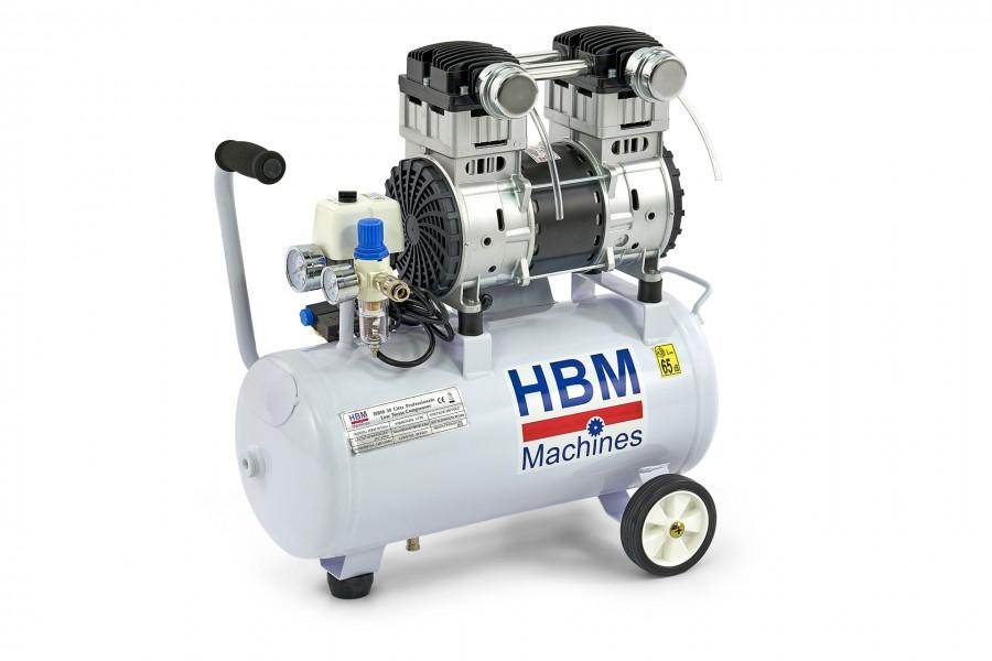 HBM 30 Liter 1,5 PK Professionele Low Noise Compressor