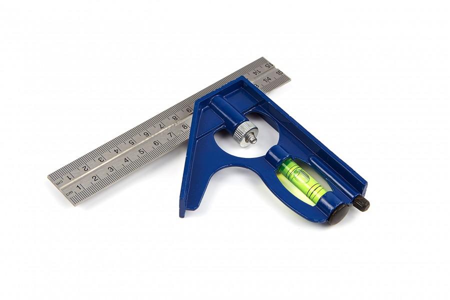Silverline 150 mm, Combinatie Winkelhaak