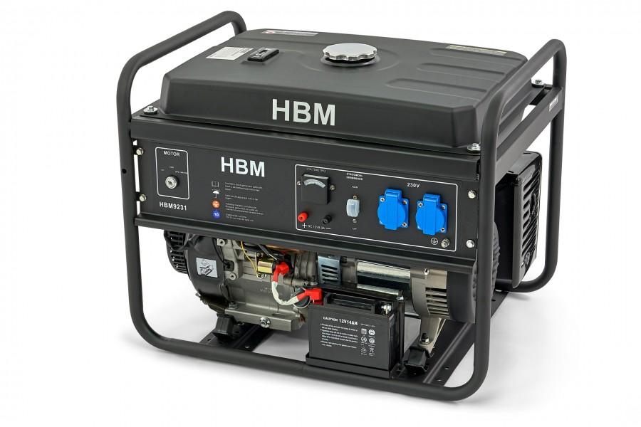 HBM Generator, Aggregaat 5500 Watt, Met 420cc OHV-Benzinemotor