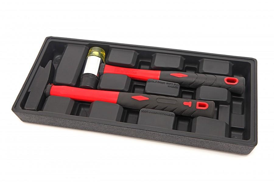 HBM 2 Delige Hamerset Inlay voor HBM Gereedschapswagen