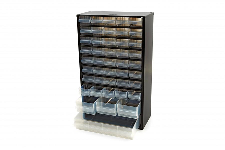 Raaco 44 Laden Metalen Ladenkast Met 10 Tussenschotten