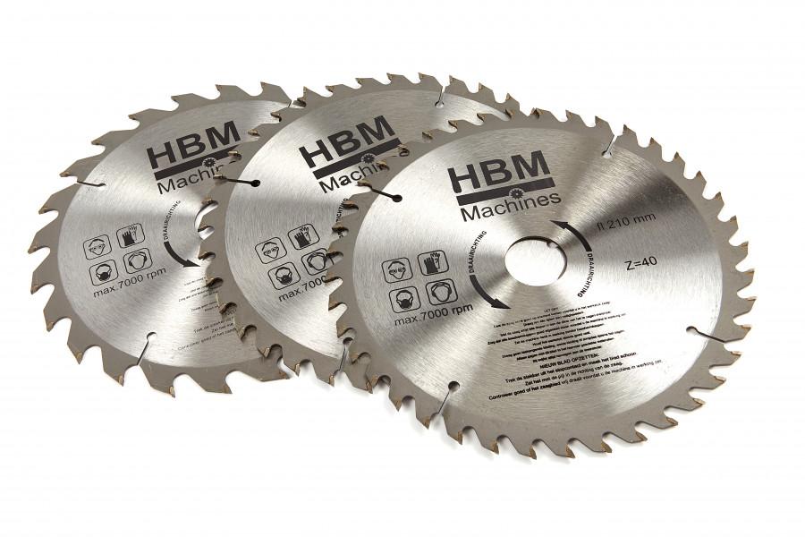 HBM 210 mm. Cirkelzaagbladen voor Hout.