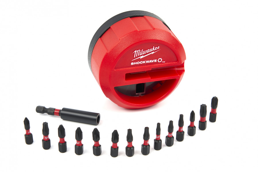 Milwaukee 4932430904 Shockwave Puck set 15 delige impact duty bitset in cassette