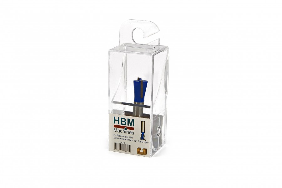HBM Professionele HM Zwaluwstaartfrees 12,7 mm. - 15 Graden hoek