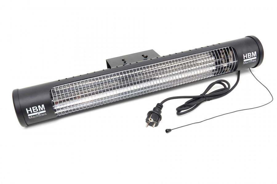 HBM 1200 Watt Terrasheater, Terrasverwarmer met 2 Warmteniveaus