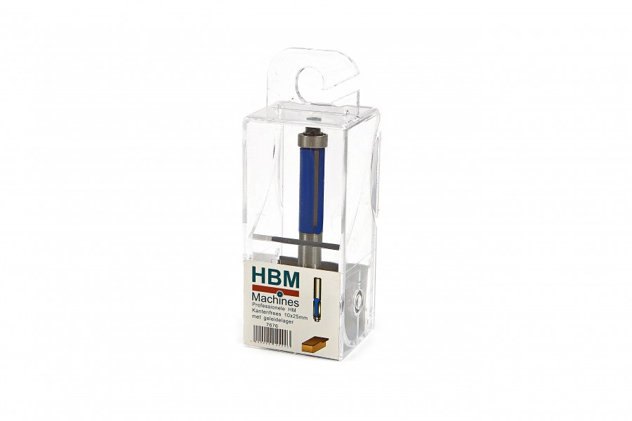 HBM Professionele HM Sponning en Kantenfrees 10 x 25 mm. Met Geleidelager