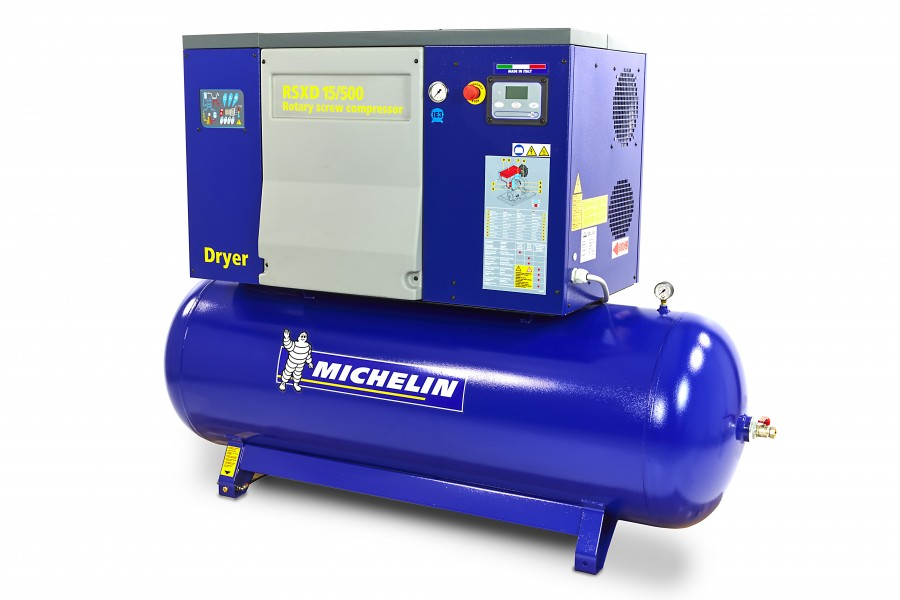 Michelin 20 PK 500 Liter Schroefcompressor Met Droger RSXD 20/500