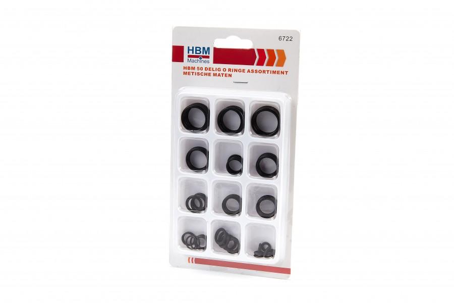 HBM 50 Delig O Ringen Assortiment Metrische Maten