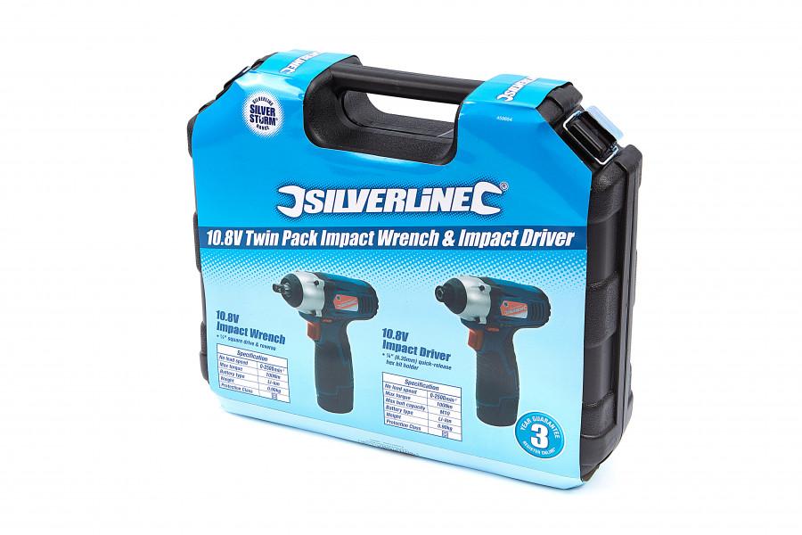 Silverline 10,8 Accu slagmoersleutel en schroevendraaier