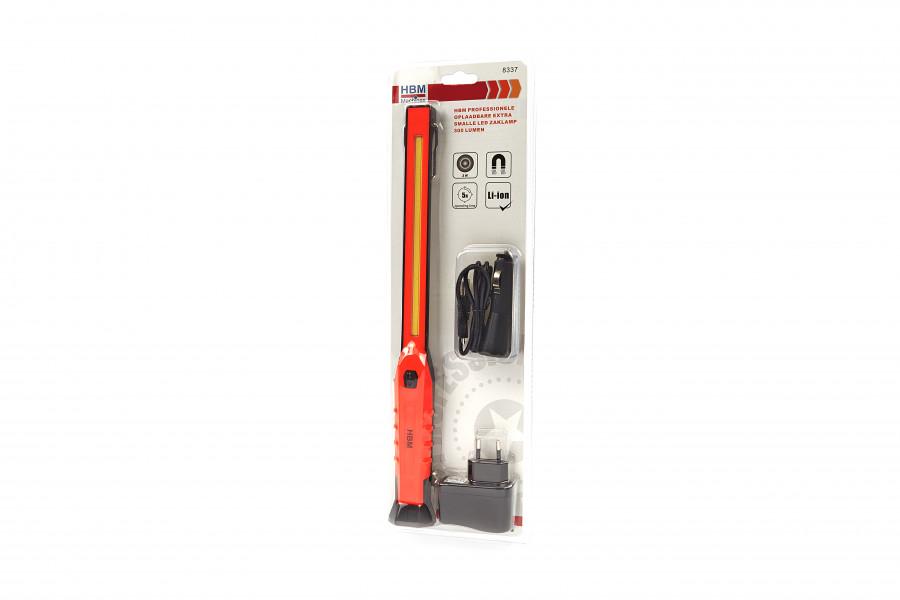 HBM Professionele Oplaadbare Extra Smalle LED Zaklamp 300 Lumen