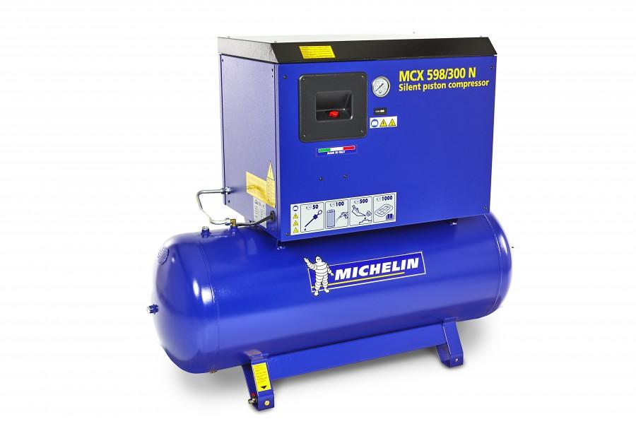 Michelin 5,5 PK 270 Liter Geluidgedempte Compressor MCX 598/300 N