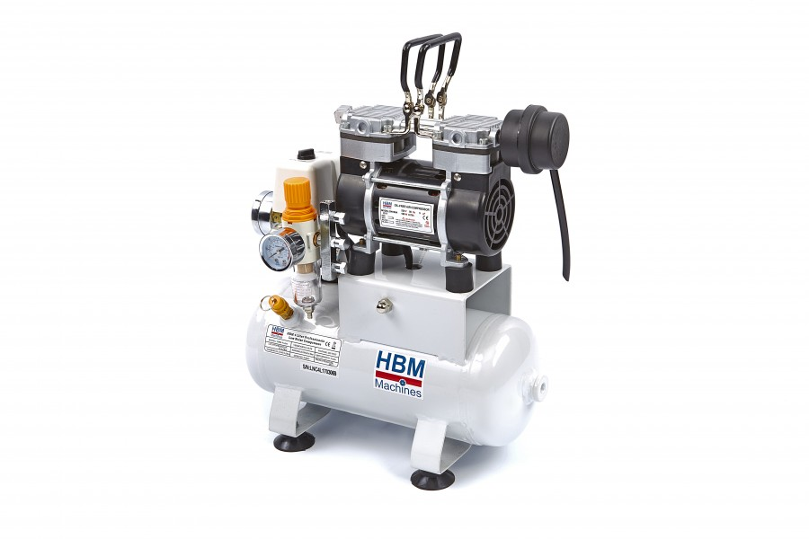 HBM 4 Liter Professionele Low Noise Airbrush Compressor