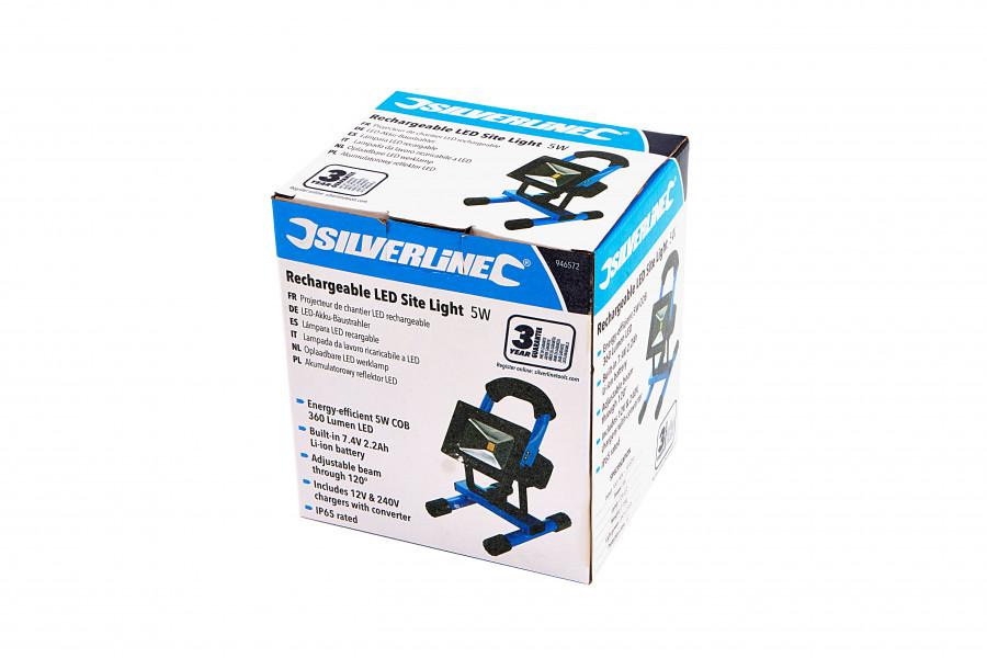 Silverline Oplaadbare LED Werklamp - Bouwlamp