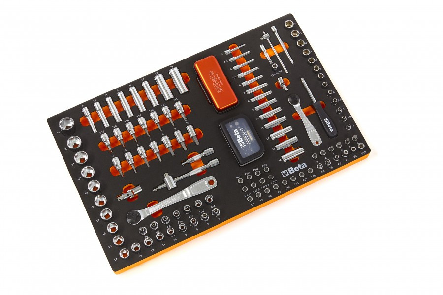 Beta ME80 1/4 - 3/8 Doppenset Inlay Foam