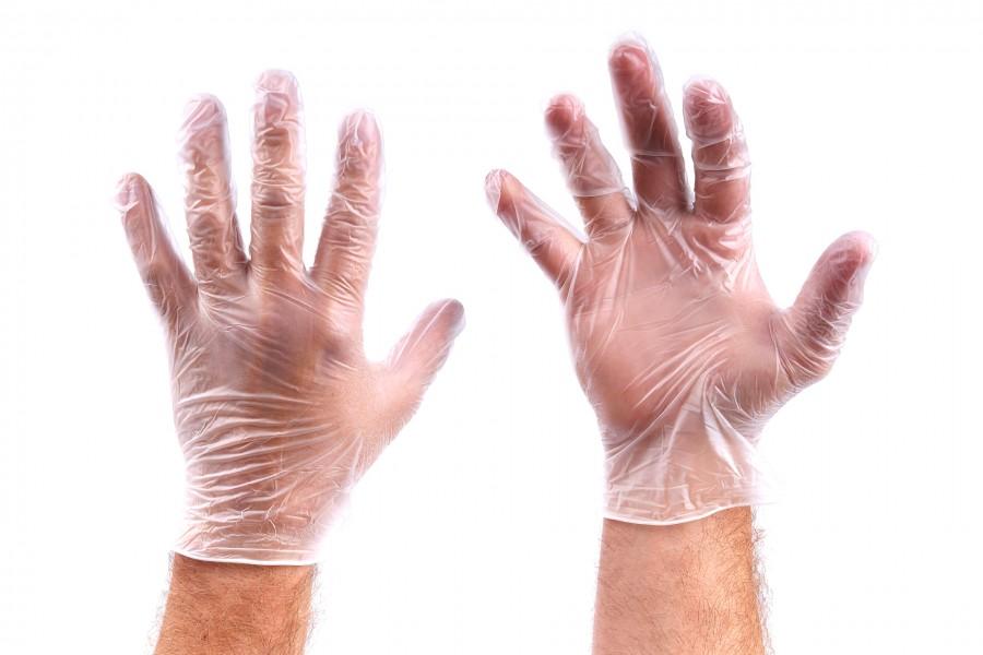 HBM 50 Paar Vinyl Handschoenen Transparant