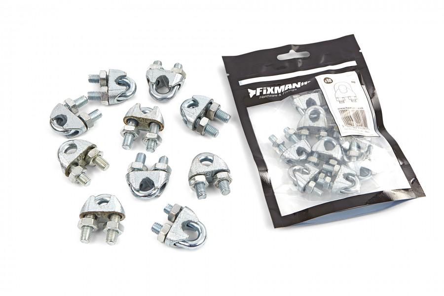 Silverline Staaldraadklemmen per 10 stuks