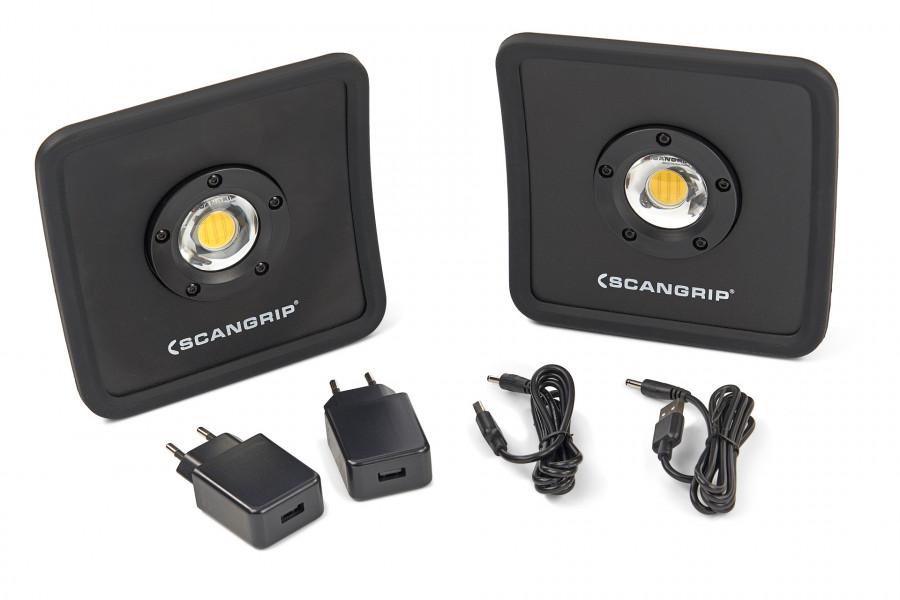 Scangrip 49.0291 Nova R Duopack LED Werklamp - Oplaadbaar - Dimbaar - 1500Lm ACTIESET