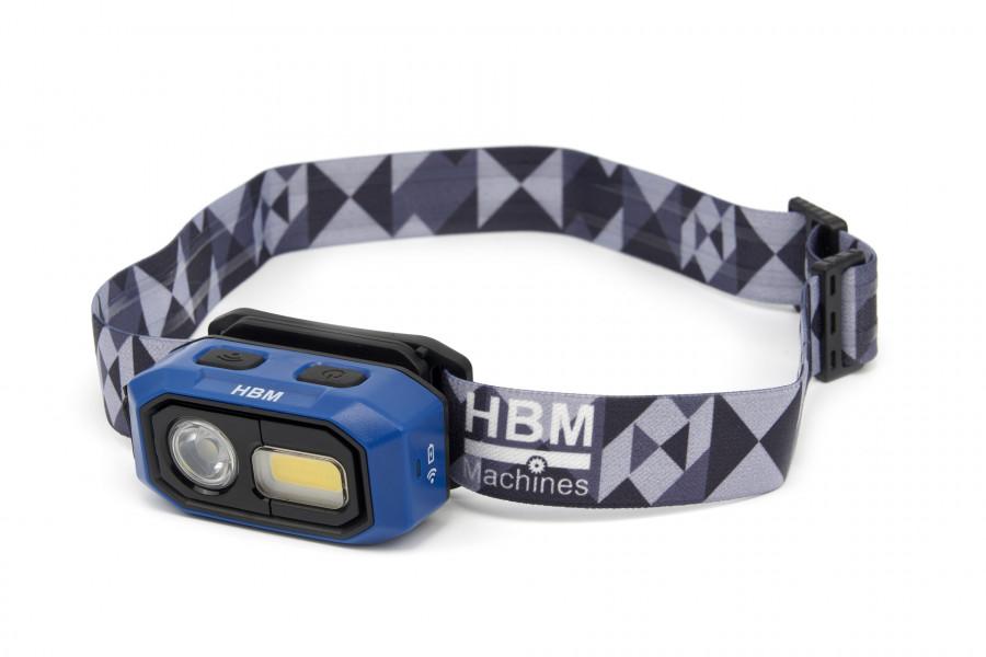 HBM Professionele Oplaadbare Hoofdlamp 480 Lumen, 3 Functies, Van 10 tot 100 % Dimbaar Met Bewegings